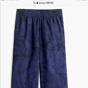 JCrew wise leg Jacquard pull one pants L NWT